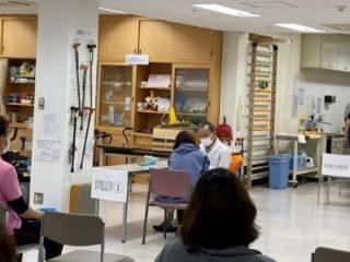 わらび苑職員への第1回目ワクチン接種が行われました
